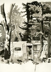 Drawing as Seeing and the Acceptance of Chaos: A Sumi Ink Wash Drawing Workshop with Heather McLaughlin