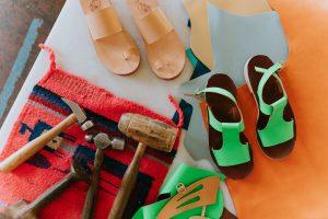 Sandalmaking with Rachel Sees Snails Shoes