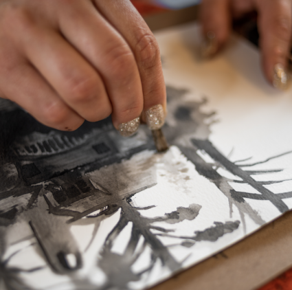 Workshop: DRAWING AS SEEING: NATURAL TEXTURES with Heather McLaughlin (Adult only) @ Sou'wester Arts Center